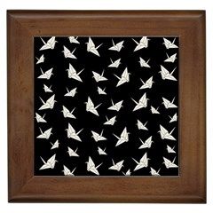 Paper Cranes Pattern Framed Tiles by Valentinaart