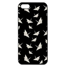 Paper Cranes Pattern Apple Iphone 5 Seamless Case (black)