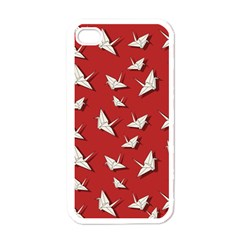 Paper Cranes Pattern Apple Iphone 4 Case (white) by Valentinaart