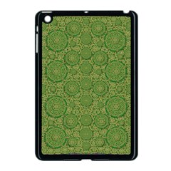 Stars In The Wooden Forest Night In Green Apple Ipad Mini Case (black) by pepitasart