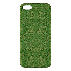 Stars In The Wooden Forest Night In Green Apple Iphone 5 Premium Hardshell Case by pepitasart