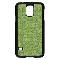 Stars In The Wooden Forest Night In Green Samsung Galaxy S5 Case (black) by pepitasart