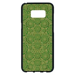 Stars In The Wooden Forest Night In Green Samsung Galaxy S8 Plus Black Seamless Case by pepitasart