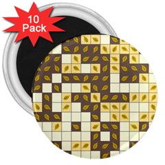 Autumn Leaves Pattern 3  Magnets (10 Pack)  by linceazul