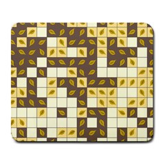 Autumn Leaves Pattern Large Mousepads by linceazul