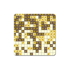 Autumn Leaves Pattern Square Magnet by linceazul