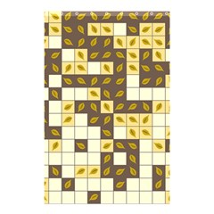 Autumn Leaves Pattern Shower Curtain 48  X 72  (small)  by linceazul