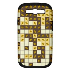 Autumn Leaves Pattern Samsung Galaxy S Iii Hardshell Case (pc+silicone) by linceazul