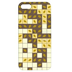 Autumn Leaves Pattern Apple Iphone 5 Hardshell Case With Stand by linceazul