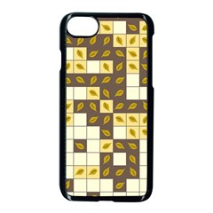Autumn Leaves Pattern Apple Iphone 7 Seamless Case (black) by linceazul