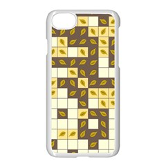 Autumn Leaves Pattern Apple Iphone 7 Seamless Case (white) by linceazul