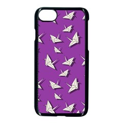 Paper Cranes Pattern Apple Iphone 7 Seamless Case (black)