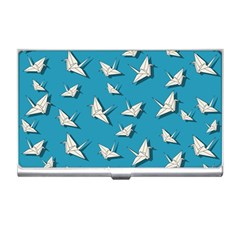 Paper Cranes Pattern Business Card Holders by Valentinaart