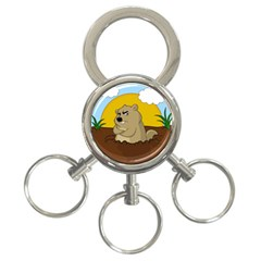 Groundhog Day 3 Ring Key Chains by Valentinaart