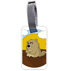Groundhog Day Luggage Tags (one Side)  by Valentinaart