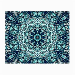 Green Blue Black Mandala  Psychedelic Pattern Small Glasses Cloth by Costasonlineshop