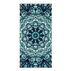 Green Blue Black Mandala  Psychedelic Pattern Shower Curtain 36  X 72  (stall)  by Costasonlineshop