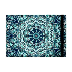 Green Blue Black Mandala  Psychedelic Pattern Apple Ipad Mini Flip Case by Costasonlineshop