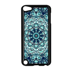 Green Blue Black Mandala  Psychedelic Pattern Apple Ipod Touch 5 Case (black) by Costasonlineshop