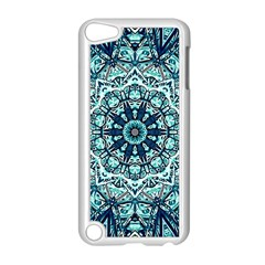 Green Blue Black Mandala  Psychedelic Pattern Apple Ipod Touch 5 Case (white) by Costasonlineshop