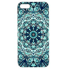 Green Blue Black Mandala  Psychedelic Pattern Apple Iphone 5 Hardshell Case With Stand by Costasonlineshop