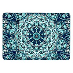 Green Blue Black Mandala  Psychedelic Pattern Samsung Galaxy Tab 8 9  P7300 Flip Case by Costasonlineshop
