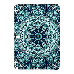 Green Blue Black Mandala  Psychedelic Pattern Samsung Galaxy Tab Pro 12 2 Hardshell Case by Costasonlineshop
