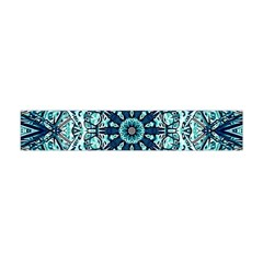 Green Blue Black Mandala  Psychedelic Pattern Flano Scarf (mini) by Costasonlineshop