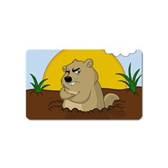 Groundhog Day Magnet (name Card) by Valentinaart