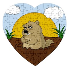 Groundhog Day Jigsaw Puzzle (heart) by Valentinaart