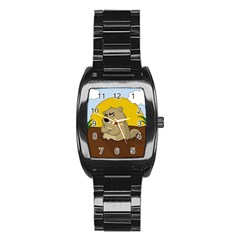 Groundhog Day Stainless Steel Barrel Watch by Valentinaart