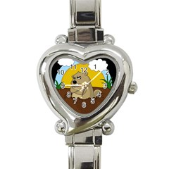 Groundhog Day Heart Italian Charm Watch by Valentinaart
