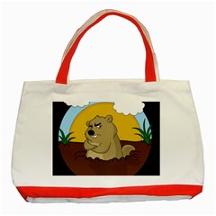 Groundhog Day Classic Tote Bag (red) by Valentinaart