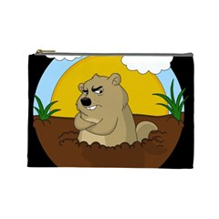 Groundhog Day Cosmetic Bag (large)  by Valentinaart