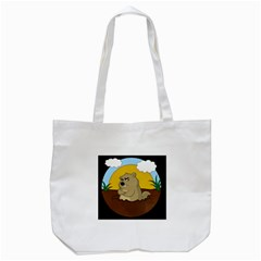 Groundhog Day Tote Bag (white) by Valentinaart