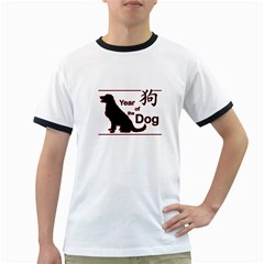 Year Of The Dog   Chinese New Year Ringer T Shirts by Valentinaart