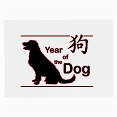 Year Of The Dog   Chinese New Year Large Glasses Cloth by Valentinaart