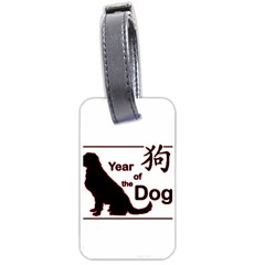 Year Of The Dog   Chinese New Year Luggage Tags (one Side)  by Valentinaart