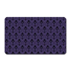 Color Of The Year 2018   Ultraviolet   Art Deco Black Edition Magnet (rectangular) by tarastyle