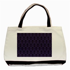 Color Of The Year 2018   Ultraviolet   Art Deco Black Edition Basic Tote Bag (two Sides) by tarastyle