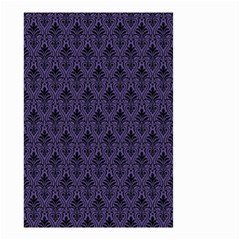 Color Of The Year 2018   Ultraviolet   Art Deco Black Edition Small Garden Flag (two Sides) by tarastyle
