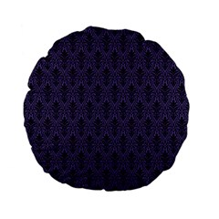 Color Of The Year 2018 - Ultraviolet - Art Deco Black Edition Standard 15  Premium Flano Round Cushions by tarastyle
