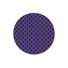 Color Of The Year 2018   Ultraviolet   Art Deco Black Edition  Magnet 3  (round) by tarastyle