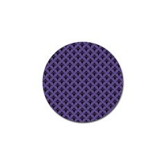 Color Of The Year 2018 - Ultraviolet - Art Deco Black Edition  Golf Ball Marker by tarastyle