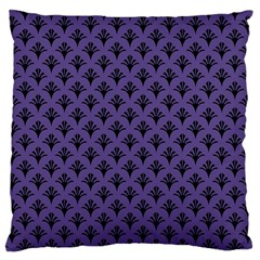 Color Of The Year 2018   Ultraviolet   Art Deco Black Edition  Large Cushion Case (one Side) by tarastyle