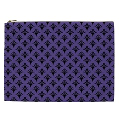Color Of The Year 2018   Ultraviolet   Art Deco Black Edition  Cosmetic Bag (xxl)  by tarastyle