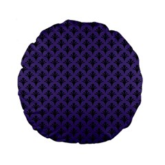 Color Of The Year 2018   Ultraviolet   Art Deco Black Edition  Standard 15  Premium Flano Round Cushions by tarastyle