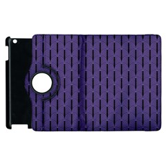 Color Of The Year 2018   Ultraviolet   Art Deco Black Edition Apple Ipad 3/4 Flip 360 Case by tarastyle