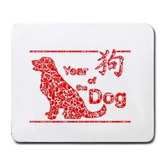 Year Of The Dog   Chinese New Year Large Mousepads by Valentinaart