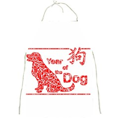 Year Of The Dog   Chinese New Year Full Print Aprons by Valentinaart